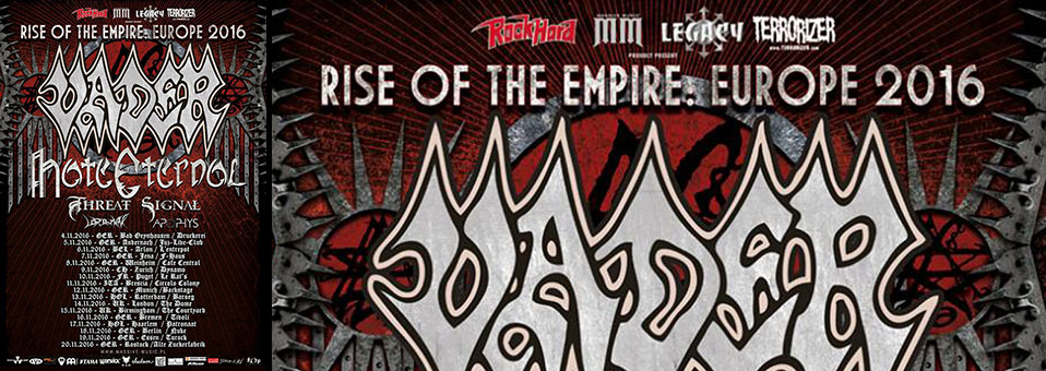 APOPHYS confirms European tour with VADER and HATE ETERNAL and launches brand new video for 'Ego'!