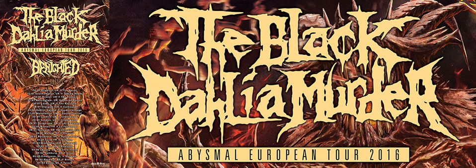 THE BLACK DAHLIA MURDER announces opening bands for upcoming European tour!