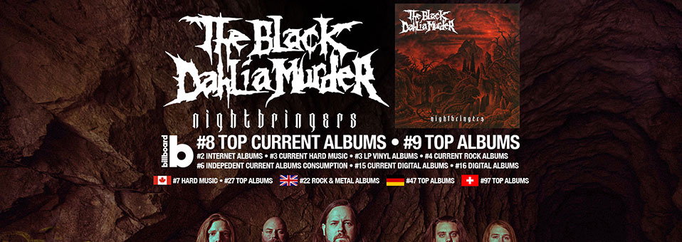 THE BLACK DAHLIA MURDER lands on international charts with new album, 'Nightbringers'!