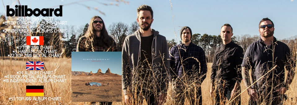 "BETWEEN THE BURIED AND ME entern die Charts weltweit mit ihrem neuen Album ""Coma Ecliptic""!"