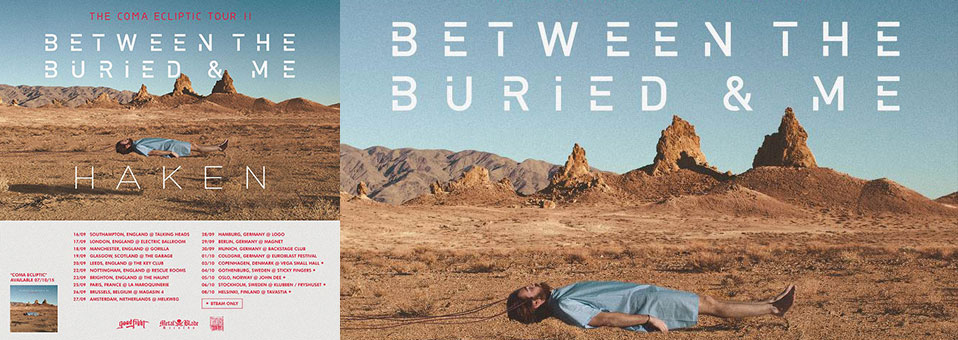 BETWEEN THE BURIED AND ME announce European tour for the fall!