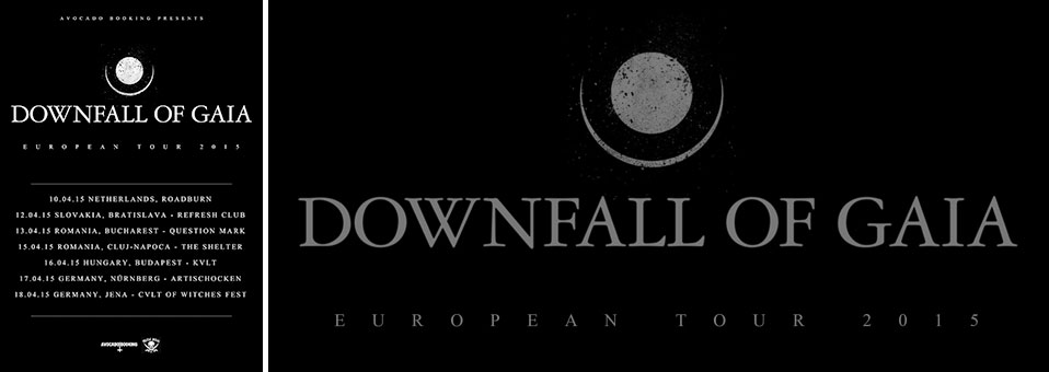 DOWNFALL OF GAIA announces more shows after end of tour with DER WEG EINER FREIHEIT in April!