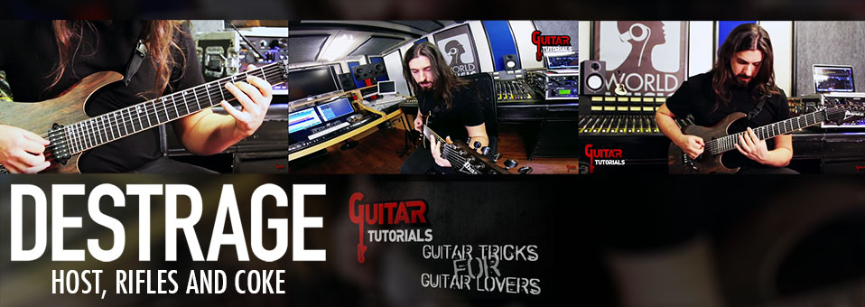"DESTRAGE launches guitar play-through for ""Host, Rifles And Coke""!"