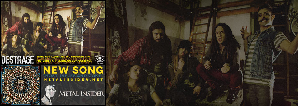 "DESTRAGE premiere new track ""Host, Rifles, and Coke"" on Metal Insider!"