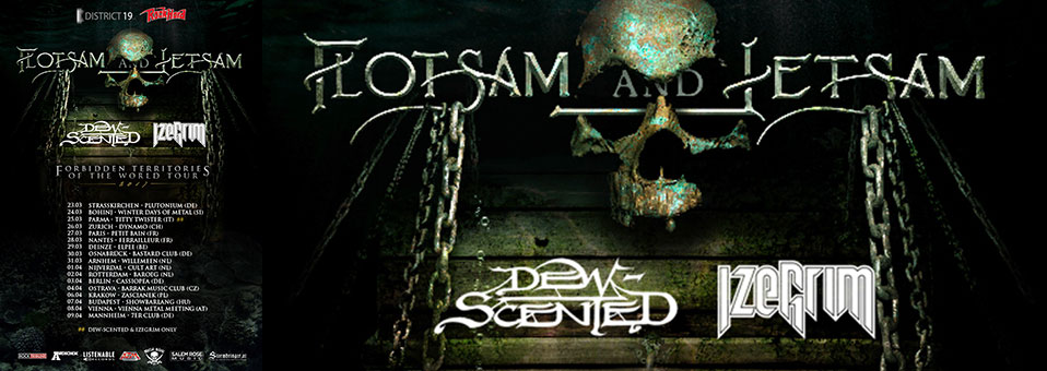 DEW-SCENTED to embark on European tour with FLOTSAM AND JETSAM!