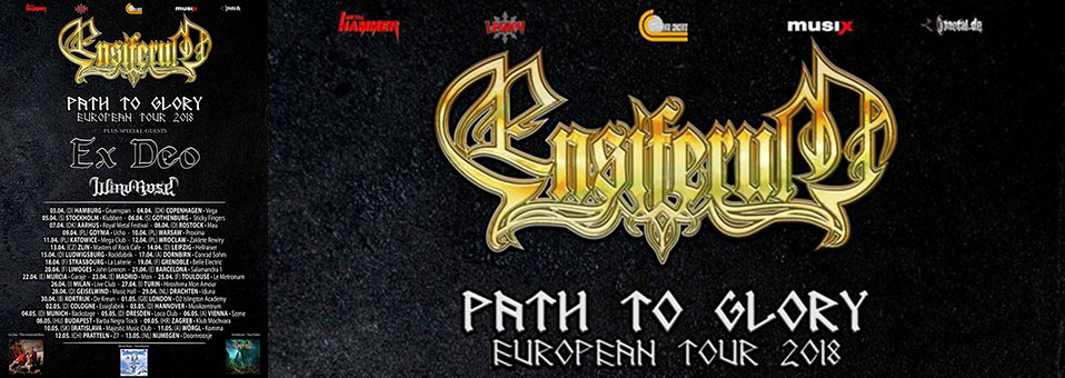 ENSIFERUM 'Path To Glory' European tour kicking off shortly!
