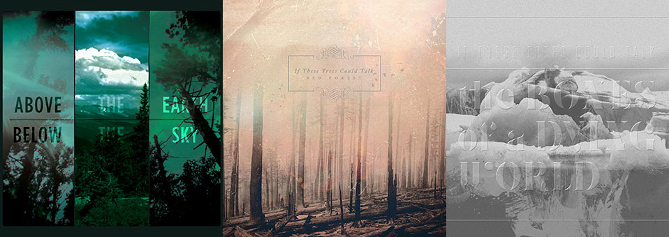 If These Trees Could Talk: 'Above the Earth, Below the Sky', 'Red Forest', 'The Bones of a Dying World' vinyl re-issues now available via Metal Blade Records