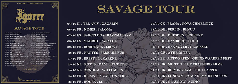 IGORRR announces full European tour for the fall in support of 'Savage Sinusoid'!