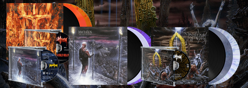 Metal Blade to re-issue IMMOLATION albums 'Close to a World Below', 'Failures for Gods' and 'Here in After' on vinyl as part of their Originals-series!
