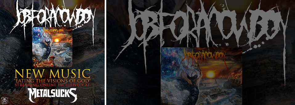 JOB FOR A COWBOY debut 'Eating the Visions of God' via Metal Sucks!