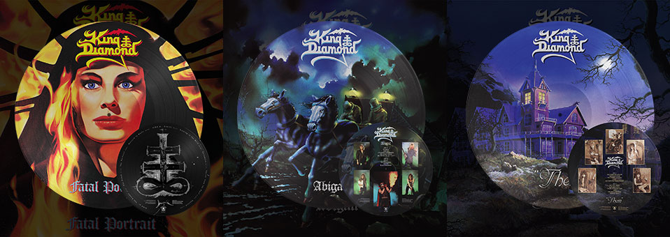 KING DIAMOND: 'Abigail', 'Fatal Portrait', 'Them' LP re-issues now available via Metal Blade Records!