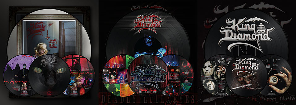 KING DIAMOND: 'Deadly Lullabyes Live', 'Give Me Your Soul…Please', 'The Puppet Master' LP Re-issues ab sofort erhältlich via Metal Blade Records!
