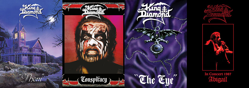 King Diamond: 'Conspiracy', 'Them', 'The Eye', 'In Concert 1987′ CD & LP re-issues now available via Metal Blade Records