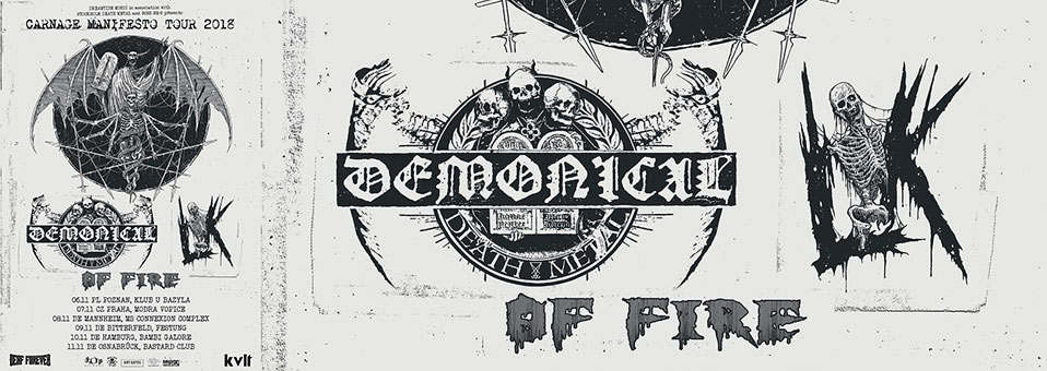 LIK announces 'Carnage Manifesto Tour 2018′ with DEMONICAL and OF FIRE!