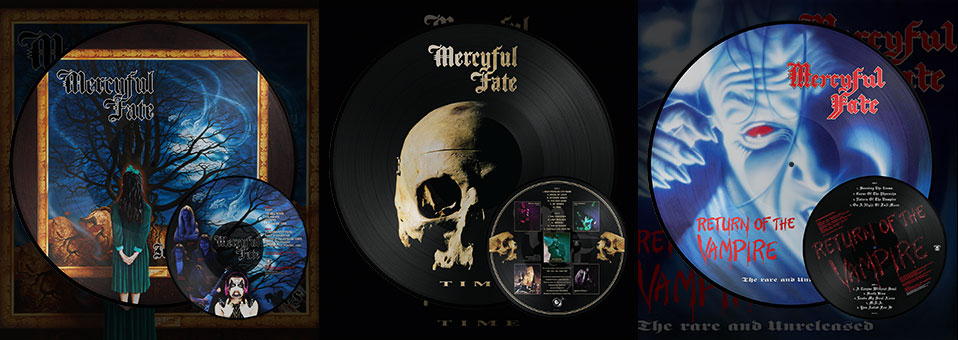 MERCYFUL FATE: 'In the Shadows', 'Return of the Vampire', 'Time' LP re-issues now available via Metal Blade Records!