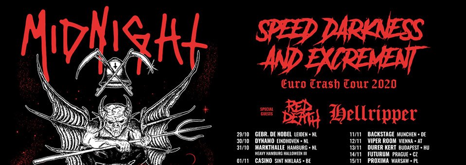 Midnight announces European tour for the fall!