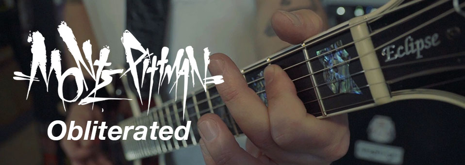 "MONTE PITTMAN launches ""Obliterated"" video (feat. Richard Christy & Billy Sheehan)!"