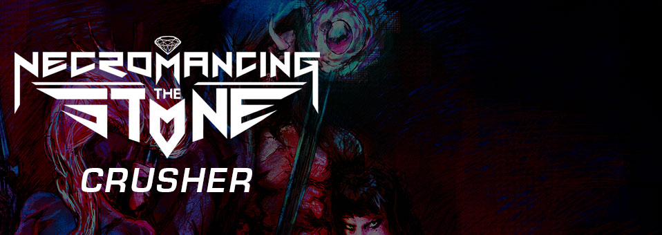 NECROMANCING THE STONE stellen guitar playthrough Video zu 'Crusher' über GearGods.net vor!