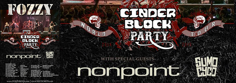 NONPOINT to team up with FOZZY for European tour in November!