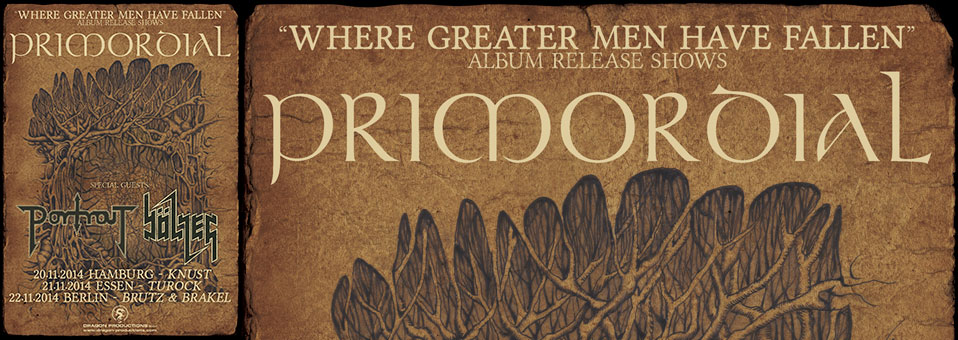 PRIMORDIAL announce title of new album and German release shows