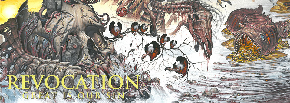 REVOCATION streamen ihr neues Album 'Great Is Our Sin' via BrooklynVegan.com / InvisibleOranges.com!