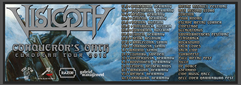 VISIGOTH to embark on full European tour in February of 2018!