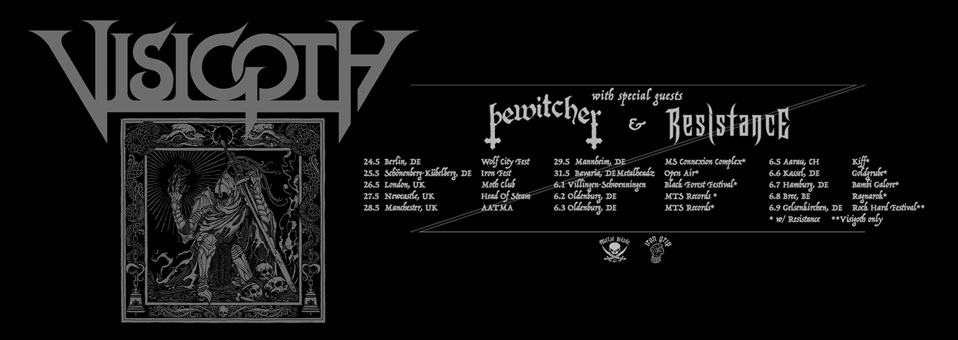 American Heavy Metallers VISIGOTH announces European headlining tour for the summer!