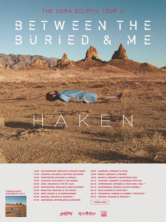 Between The Buried And Me Announce European Tour For The Fall