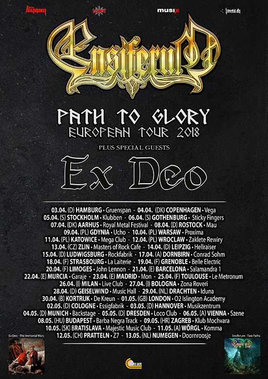 Bildergebnis für path to glory tour ensiferum plakat z7