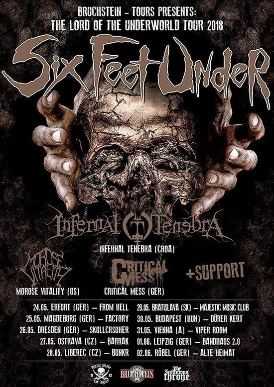 Six Feet Under Announces European Tour For May