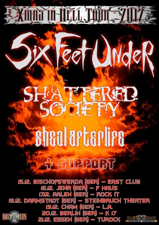 Six Feet Under To Embark On X Mas In Tour Through Germany This Week