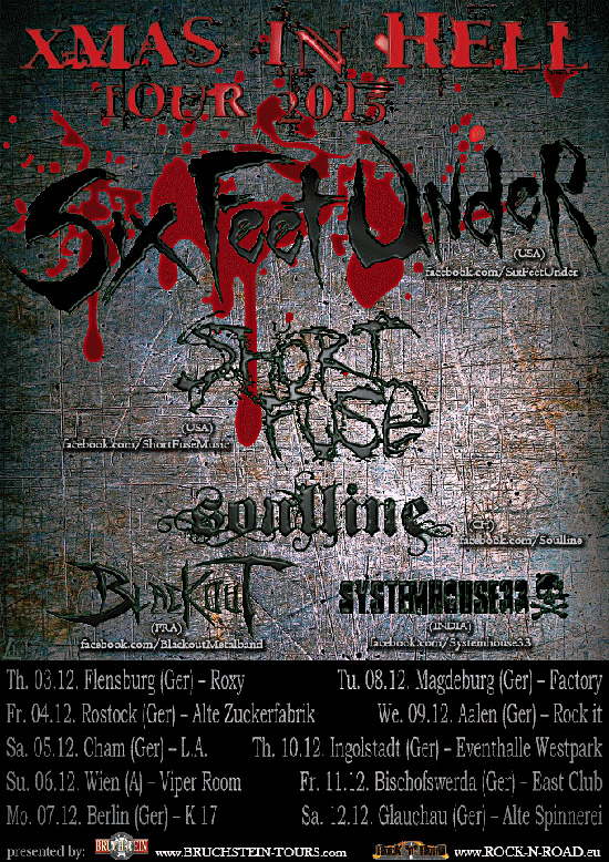 Six Feet Under Announce X Mas In Tour 2015 Through Germany And Austria