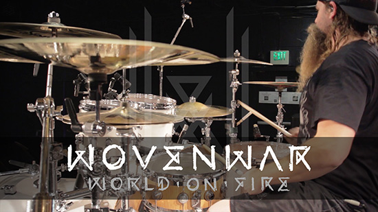 WOVENWAR premieres new track and drum play-through, 'World