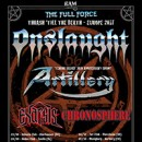 ARTILLERY announces full European co-headline tour with ONSLAUGHT with support from EXARSIS and CHRONOSPHERE!