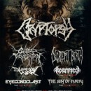 CATTLE DECAPITATION direct support to CRYPTOPSY's European tour this spring!