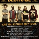 DESTRAGE to follow-up sold out hometown show with Italian tour!