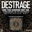 DESTRAGE streaming new album 'Are You Kidding Me? No.' on Metal Sucks!