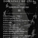 DOWNFALL OF GAIA confirms new dates for European tour!