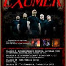 EXUMER returns to Europe in March for a bunch of club shows!