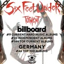 SIX FEET UNDER enters worldwide charts for new album, 'Torment'!