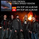 THE CROWN lands on international charts with new album, 'Cobra Speed Venom'!