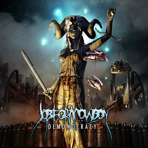 JobforaCowboy-Demonocracy Job For A Cowboy Itunes on death metal, goat skull, death metal bands, vocalist tattoo, cd cover, imperium wolves shirt, jon davy, album cover art, members drummer, john davy,