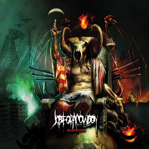 JobforaCowboy-Ruination Job For A Cowboy Itunes on death metal, goat skull, death metal bands, vocalist tattoo, cd cover, imperium wolves shirt, jon davy, album cover art, members drummer, john davy,