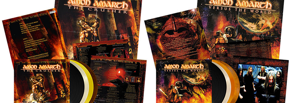 Amon Amarth: 'The Crusher' and 'Versus The World' LP re-issues now available via Metal Blade Records