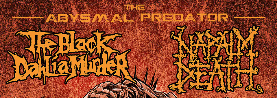 "The Black Dahlia Murder announces co-headlining ""Abysmal Predator"" USA tour with Napalm Death"