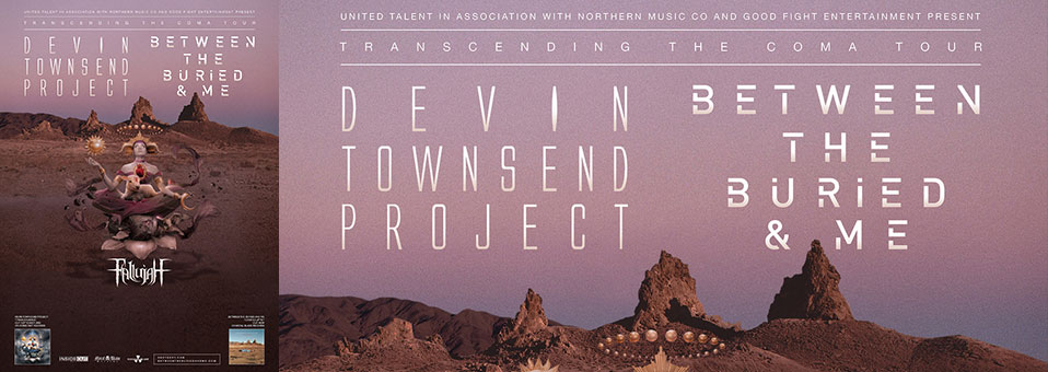 "Between the Buried and Me and Devin Townsend Project announce ""Transcending The Coma Tour"" fall co-headlining tour"