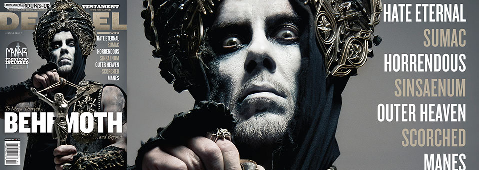 Behemoth graces Decibel Magazine cover