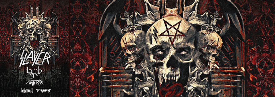 Lamb of God, Anthrax, Behemoth, Testament to support Slayer on the North American leg of the band's final world tour