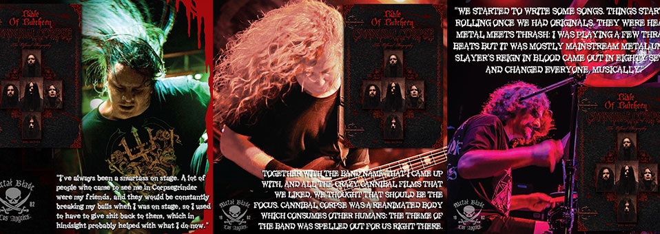 "CANNIBAL CORPSE ""Bible of Butchery"" details and excerpts"