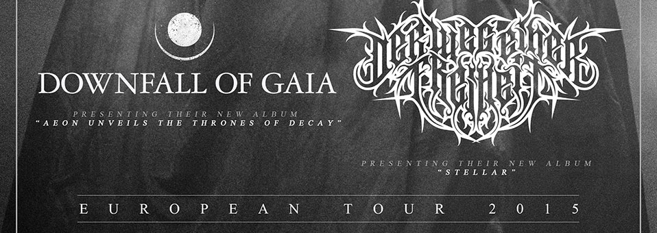 DOWNFALL OF GAIA teaming up for co-headline tour with DER WEG EINER FREIHEIT in March and April of 2015!